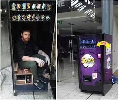 Vending Machine Worker Unique Vending Machine Delivers Scares Instead Of Free Treats Technabob