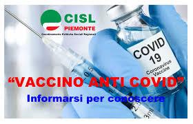 Vaccino anti Covid: informarsi per conoscere - Cisl Piemonte