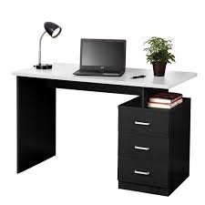 home office drawers. Fine Home Fineboard Home Office Desk With 3 Drawers BlackWhite For Home Office Drawers H
