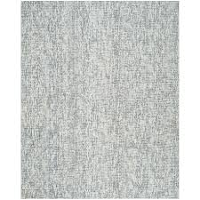 safavieh abstract 8 x 10 hand tufted wool rug in blue and charcoal
