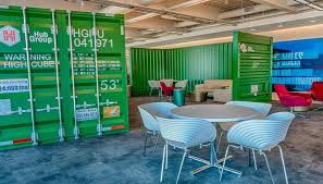 Container Office Design Inspiration Nimlok Chicago Hub Group Permanent Branded Installation For The