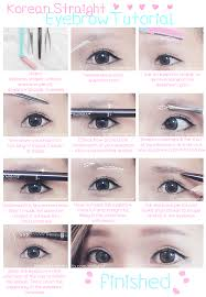 another korea trend is the straight eyebrows it makes you look innocent cute and you may look 5 years younger the point of this eyebrow is too have a