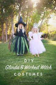 diy glinda the good witch and wicked witch of the west wizard of oz costumes that
