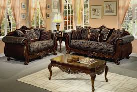 traditional leather living room furniture. Plain Leather Living Room Furniture With Wood Trim Traditional Leather Set  Brown Intended