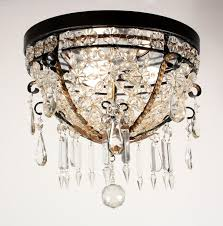 sold amazing antique flush mount beaded basket chandelier with crystal prisms