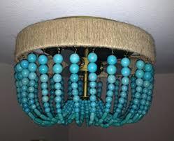 turquoise beaded chandelier ing by marjorie skouras diy light