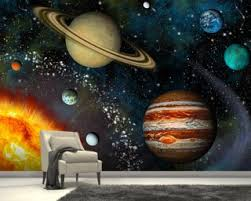 3d solar system on solar system 3d wall art with space wallpaper wall murals wallsauce australia