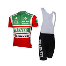 2018 7 Eleven Team Retro Classical Short Sleeve Cycling Jersey Summer Cycling Wear Ropa Ciclismo Bib Shorts 3d Gel Pad Set Size Xs 4xl Bicycle Shirts