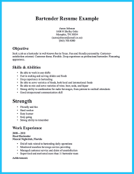 Nice Impressive Bartender Resume Sample That Brings You To A
