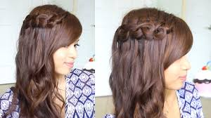 You Tube Hair Style knotted loop waterfall braid hairstyle for short and long hair 8917 by wearticles.com