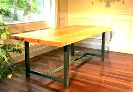 metal table with wood top white table with wood top full size of dining black legs