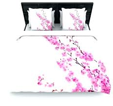 cherry blossom duvet covers cover pink fl cotton twin natori japanese bedding set
