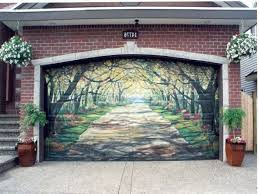 garage door design garage doors design ideas solid wood pathway garage door garden painting
