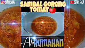 Bagi kamu yang belum pernah mencoba, yuk kita lihat resep dan cara membuat sambal tomat goreng berikut. Sambal Goreng Tomat Ala Rumahan Resep Sambal Tomat Youtube
