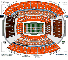 Browns Seating Chart 2017 Nfl Stadium Seating Charts Stadiums Of Pro Football