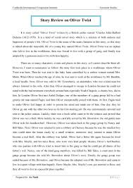 story review on oliver twist