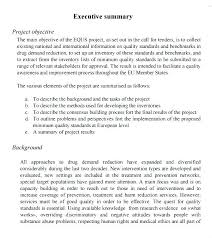 Free Executive Summary Template Example 7 Download Documents