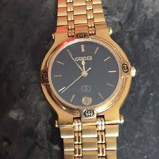 gucci 9700m. gucci watch 9200 m. 18k gold plated 1987 9700m