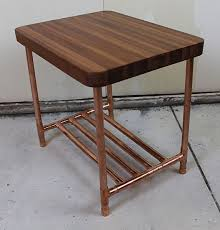 Sapele & Copper Pipe End Table by Paul Segedin and Urban Prairie Design. 19-