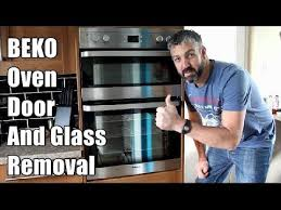 how to remove a beko oven door and