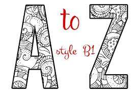 Coloring Letters of the Alphabet B1 - Objects