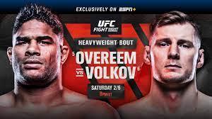 UFC Fight Night: Overeem vs. Volkov ...