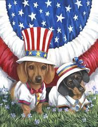 dachshund usa flag