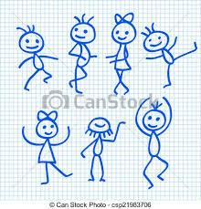 cartoon dancing people csp21983706