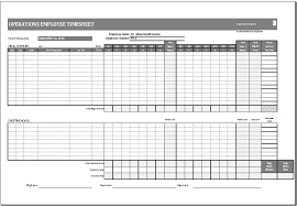 Timecard In Excel Operations Employee Time Card Template Ms Excel Excel