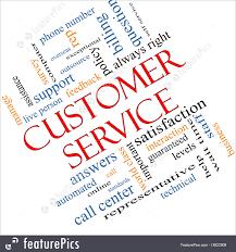 illustration of customer service words customer service words