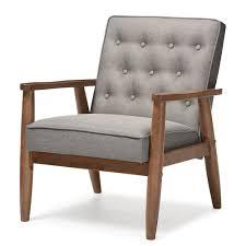 baxton studio sorrento midcentury retro modern grey fabric
