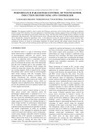 performance enhancement of wound rotor induction motor by resonating rotor circuit using fuzzy controller request pdf