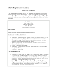 marketing resume objective com marketing resume objective for a resume objective of your resume 10