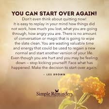 Inspiring And Uplifting Words Of Positive Encouragement To Help You Custom Starting Over Quotes