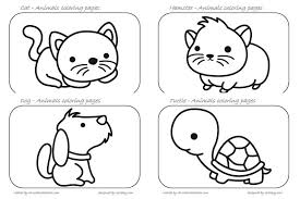 Animals Coloring Pages Creative Kitchen