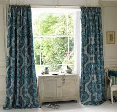 Teal Patterned Curtains Interesting Teal Patterned Curtains Curtain Designs
