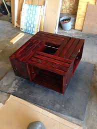 diy wine crate coffee table 1299 wine crates from