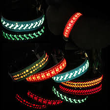 Cortex Lighting Cat Dog Chain Carved Flower Cortex Led Lighting Night Flashing Pet Collar Accessories S M L Aaa1938
