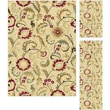 3 pc rug sets bliss rugs transitional area rug set of 3 beige 3 piece bathroom