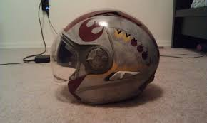 i painted my motorcycle helmet mic starwars