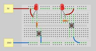 how to use a breadboard learn sparkfun com fritzing diagram