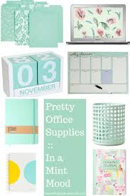trendy office supplies. Pretty Office Supplies :: In A Mint Mood Trendy