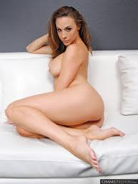 Busty Babe Chanel Preston nude playing with Talc