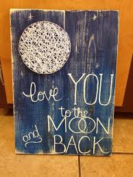 string art string wall art love you to the moon and