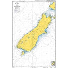 Admiralty Chart 4648 South Pacific Ocean New Zealand South Island