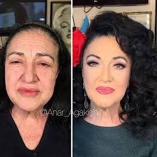 anar agakishiev older women make up transformations azerbaijan