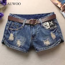 LAUWOO Summer <b>Denim Shorts</b> for <b>women</b> Sexy mini shorts ...