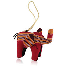 Elephant: Ugandan Stuffed Animal Christmas Ornament | The Black ...