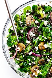 this zesty lentil spinach salad recipe is ready to go in about 30 minutes made
