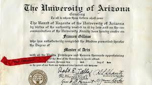 university of arizona diploma special collections university of arizona diploma